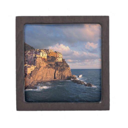 Europe, Italy, Manarola. The cliff-nestled Premium Jewelry Box
