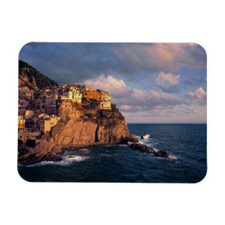 Europe, Italy, Manarola. The cliff-nestled Rectangular Photo Magnet