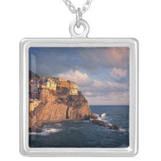 Europe, Italy, Manarola. The cliff-nestled Square Pendant Necklace
