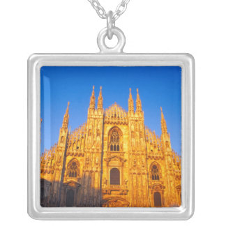 Europe, Italy, Milan, Cathedral of Milan Square Pendant Necklace