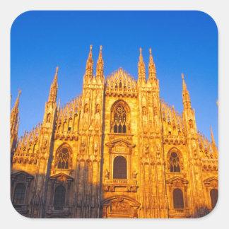 Europe, Italy, Milan, Cathedral of Milan Square Sticker