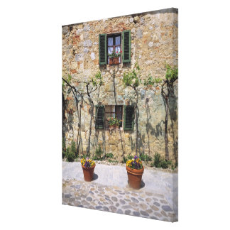 Europe, Italy, Monteriggioni. A stone house is Canvas Print
