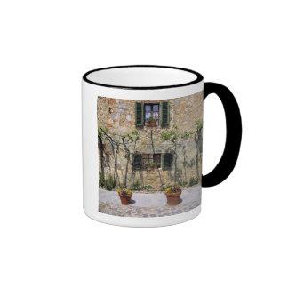Europe, Italy, Monteriggioni. A stone house is Ringer Coffee Mug