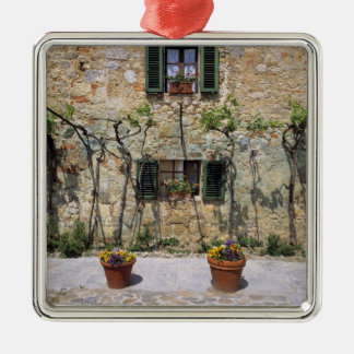 Europe, Italy, Monteriggioni. A stone house is Ornaments