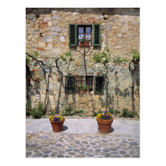 Europe, Italy, Monteriggioni. A stone house is Postcard