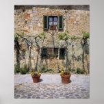 Europe, Italy, Monteriggioni. A stone house is Print