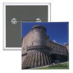 Europe, Italy, Naples, Castle Nuovo Pinback Button