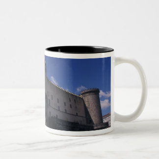 Europe, Italy, Naples, Castle Nuovo Two-Tone Coffee Mug