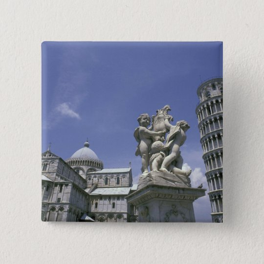 Europe, Italy, Pisa, Leaning Tower of Pisa Button