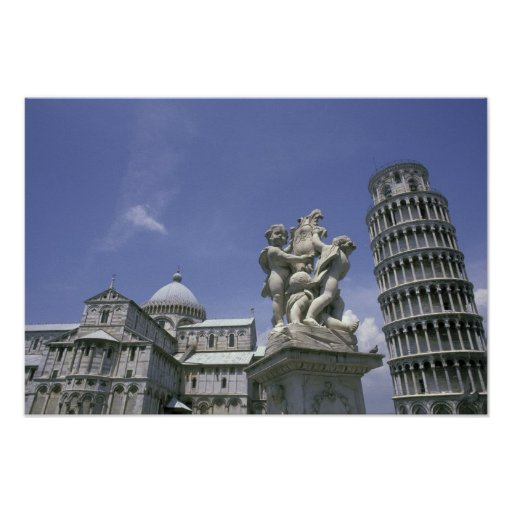 Europe, Italy, Pisa, Leaning Tower of Pisa Poster