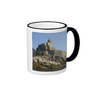 Europe, Italy, Portovenere aka Porto Venere. 2 Ringer Mug