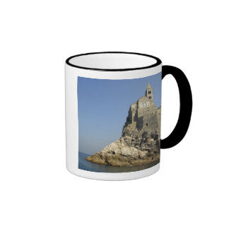 Europe, Italy, Portovenere aka Porto Venere. 3 Ringer Mug