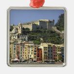 Europe, Italy, Portovenere aka Porto Venere. Square Metal Christmas Ornament