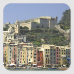Europe, Italy, Portovenere aka Porto Venere. Square Sticker