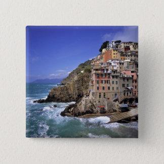Europe, Italy, Riomaggiore. Riomaggiore is built Button