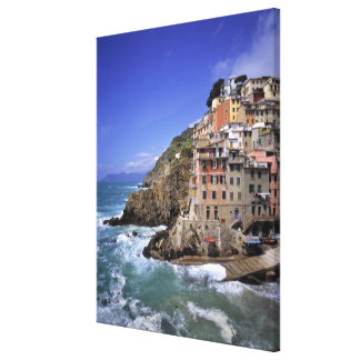 Europe, Italy, Riomaggiore. Riomaggiore is built Canvas Print