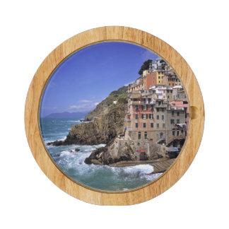 Europe, Italy, Riomaggiore. Riomaggiore is built Cheese Platter