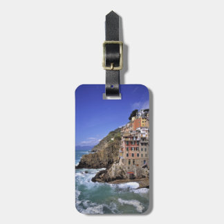 Europe, Italy, Riomaggiore. Riomaggiore is built Luggage Tag