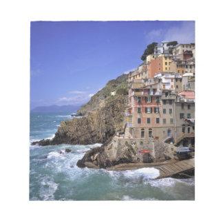 Europe, Italy, Riomaggiore. Riomaggiore is built Memo Pad