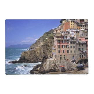 Europe, Italy, Riomaggiore. Riomaggiore is built Placemat