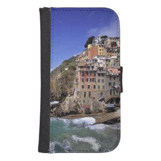 Europe, Italy, Riomaggiore. Riomaggiore is built Wallet Phone Case For Samsung Galaxy S4