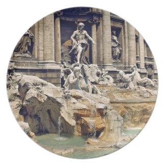 Europe, Italy, Rome. Coins litter the bottom of Dinner Plates