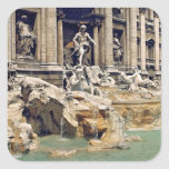 Europe, Italy, Rome. Coins litter the bottom of Square Sticker