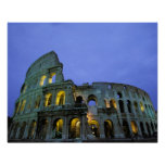 Europe, Italy, Rome. Evening view of the Poster