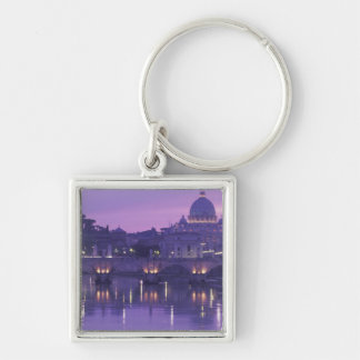 Europe, Italy, Rome. St. Peter's and Ponte Sant Keychain
