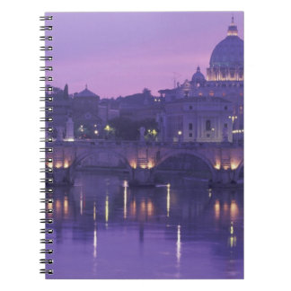 Europe, Italy, Rome. St. Peter's and Ponte Sant Note Books