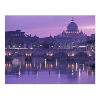 Europe, Italy, Rome. St. Peter's and Ponte Sant Postcard