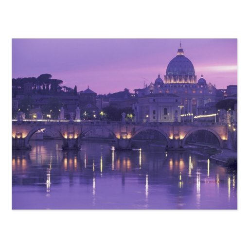 Europe, Italy, Rome. St. Peter's and Ponte Sant Post Cards