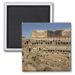 Europe, Italy, Rome. The Colosseum (aka 2 Inch Square Magnet