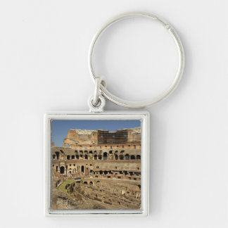 Europe, Italy, Rome. The Colosseum (aka Silver-Colored Square Keychain