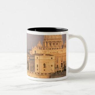 Europe, Italy, Rome, The Vatican. Basilica San Two-Tone Coffee Mug