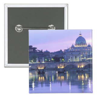 Europe, Italy, Rome, The Vatican. St. Peter's & 2 Inch Square Button