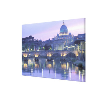 Europe, Italy, Rome, The Vatican. St. Peter's & Stretched Canvas Print