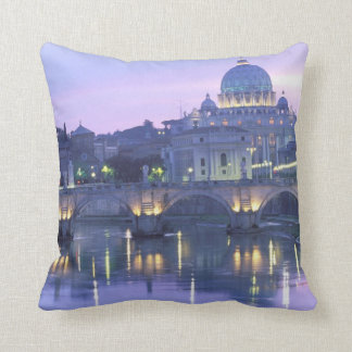 Europe, Italy, Rome, The Vatican. St. Peter's Throw Pillow