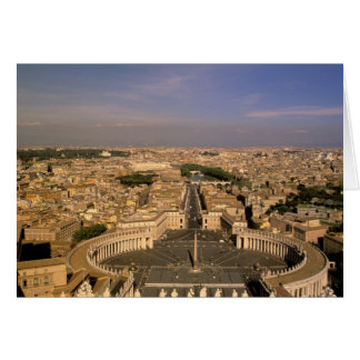 Europe, Italy, Rome, The Vatican. View from St. Card