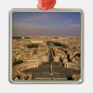Europe, Italy, Rome, The Vatican. View from St. Square Metal Christmas Ornament