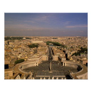 Europe, Italy, Rome, The Vatican. View from St. Posters