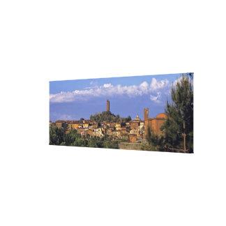 Europe, Italy, San Miniato. Beneath a wide, Canvas Print