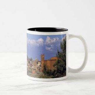 Europe, Italy, San Miniato. Beneath a wide, Two-Tone Coffee Mug