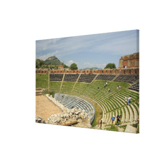 Europe, Italy, Sicily, Taormina. 3rd century 2 Stretched Canvas Print