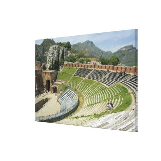 Europe, Italy, Sicily, Taormina. 3rd century Stretched Canvas Prints