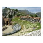 Europe, Italy, Sicily, Taormina. 3rd century Postcard