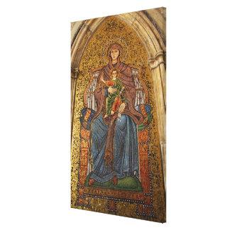 Europe, Italy, Sicily, Taormina. Madonna & child Gallery Wrap Canvas