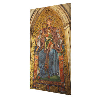 Europe, Italy, Sicily, Taormina. Madonna & child Stretched Canvas Prints