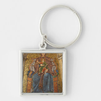 Europe, Italy, Sicily, Taormina. Madonna & child Keychain