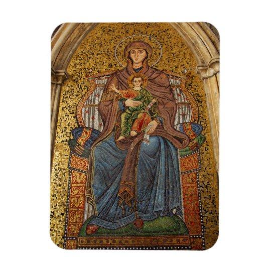 Europe, Italy, Sicily, Taormina. Madonna & child Magnet